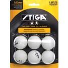 Stiga Two-Star White Table Tennis Balls