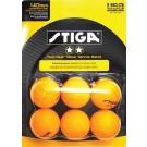 Stiga Two-Star Orange Table Tennis Balls
