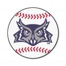 "27"" Round Rice Owls Baseball Mat"