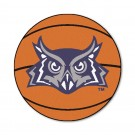 "27"" Round Rice Owls Basketball Mat"