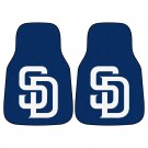 "San Diego Padres 27"" x 18"" Auto Floor Mat (Set of 2 Car Mats)"