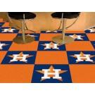 """Houston Astros 18"""" x 18"""" Carpet Tiles (Box of 20)"""