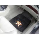 """Houston Astros 18"""" x 27"""" Heavy Duty 2-Piece Vinyl Car Mat Set"""