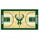"Milwaukee Bucks 24"" x 44"" Basketball Court Runner"