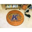 "27"" Round Kent State Golden Flashes Basketball Mat"