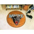 """27"""" Round Maine Black Bears Basketball Mat"""