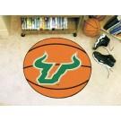 """27"""" Round South Florida Bulls Basketball Mat"""