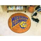 "27"" Round Western Illinois Leathernecks Basketball Mat"