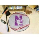 """Northwestern Wildcats 27"""" Round Baseball Mat"""