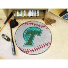 "27"" Round Tulane Green Wave Baseball Mat"