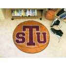 """27"""" Round Texas Southern Tigers Basketball Mat"""