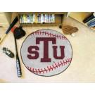 "27"" Round Texas Southern Tigers Baseball Mat"