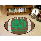 """North Dakota  Hawks 22"""" x 35"""" Football Mat"""