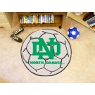 "North Dakota  Hawks 27"" Round Soccer Mat"