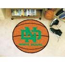 """North Dakota  Hawks 27"""" Round Basketball Mat"""