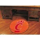 """27"""" Round Cincinnati Bearcats Basketball Mat"""