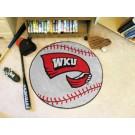 """27"""" Round Western Kentucky Hilltoppers Baseball Mat"""