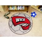 """27"""" Round Western Kentucky Hilltoppers Soccer Mat"""