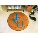 """27"""" Round John Carroll Blue Streaks Basketball Mat"""