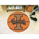 """27"""" Round Idaho Vandals Basketball Mat"""