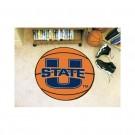 """27"""" Round Utah State Aggies Basketball Mat"""