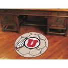 "27"" Round Utah Utes Soccer Mat"