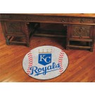 "27"" Round Kansas City Royals Baseball Mat"