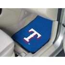 "Texas Rangers 27"" x 18"" Auto Floor Mat (Set of 2 Car Mats)"