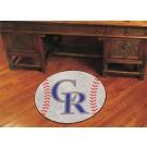 "27"" Round Colorado Rockies Baseball Mat"