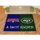 """New York Giants and New York Jets 34"""" x 45"""" House Divided Mat"""