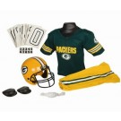 Franklin Green Bay Packers DELUXE Youth Helmet and Football Uniform Set (Small)