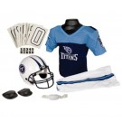 Franklin Tennessee Titans DELUXE Youth Helmet and Football Uniform Set (Small)