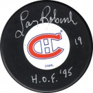 Larry Robinson Autographed Montreal Canadiens Puck