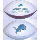 Detroit Lions Limited Edition Embroidered Signature Series Football from Fotoball