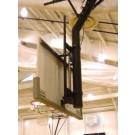 "Manual Single Post Adjust-A-Goal for 6 5/8"" Diameter Single Post for Rectangular Backboard with 63"" x 36"" Board Mounting"