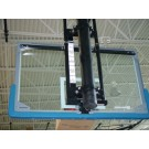"Electric Single Post Adjust-A-Goal for 6 5/8"" Diameter Single Post for Rectangular Backboard with 63"" x 36"" Board Mounting"