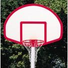 """39"""" x 54"""" Fan-Shaped Solid Fiberglass Basketball Backboard from Gared"""