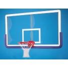 "Outer Limit Pro 42"" x 72"" Rectangular Glass Basketball Backboard with Center Strut Reinforcer"