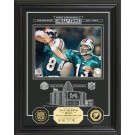"Dan Marino Hall of Fame Archival Etched Glass 6"" x 9"" Framed Photograph and Medallion Set"