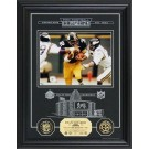 "Franco Harris Hall of Fame Archival Etched Glass 6"" x 9"" Framed Photograph and Medallion Set"