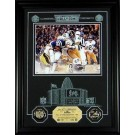"Jack Lambert Hall of Fame Archival Etched Glass 6"" x 9"" Framed Photograph and Medallion Set"
