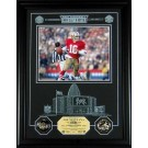 "Joe Montana Hall of Fame Archival Etched Glass 6"" x 9"" Framed Photograph and Medallion Set"