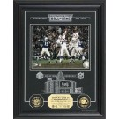 "Johnny Unitas Hall of Fame Archival Etched Glass 6"" x 9"" Framed Photograph and Medallion Set"