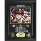 "Steve Young Hall of Fame Archival Etched Glass 6"" x 9"" Framed Photograph and Medallion Set"