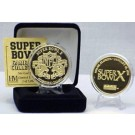 24KT Gold Super Bowl X Flip Coin from The Highland Mint