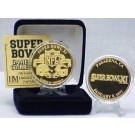 24KT Gold Super Bowl XI Flip Coin from The Highland Mint