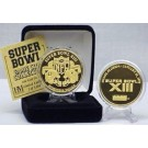 24KT Gold Super Bowl XIII Flip Coin from The Highland Mint