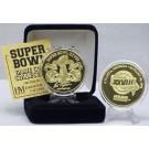 24KT Gold Super Bowl XXVIII Flip Coin from The Highland Mint
