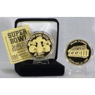 24KT Gold Super Bowl XXXIII Flip Coin from The Highland Mint