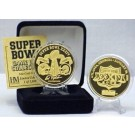 24KT Gold Super Bowl XXXIV Flip Coin from The Highland Mint